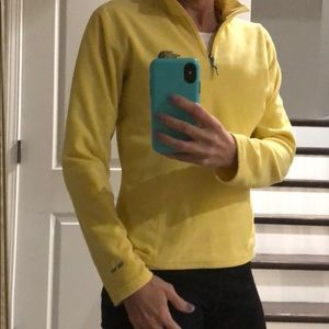 The North Face Tops - North Face yellow pullover small